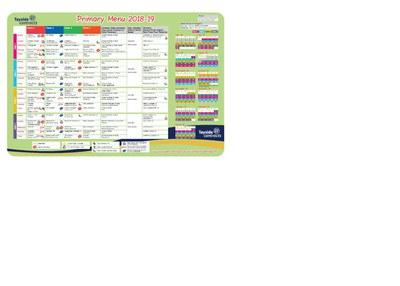 primary menu 2018 19